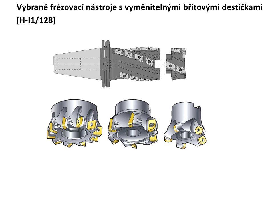 Vybrané frézovací nástroje s vyměnitelnými břitovými destičkami [H-I1/128]